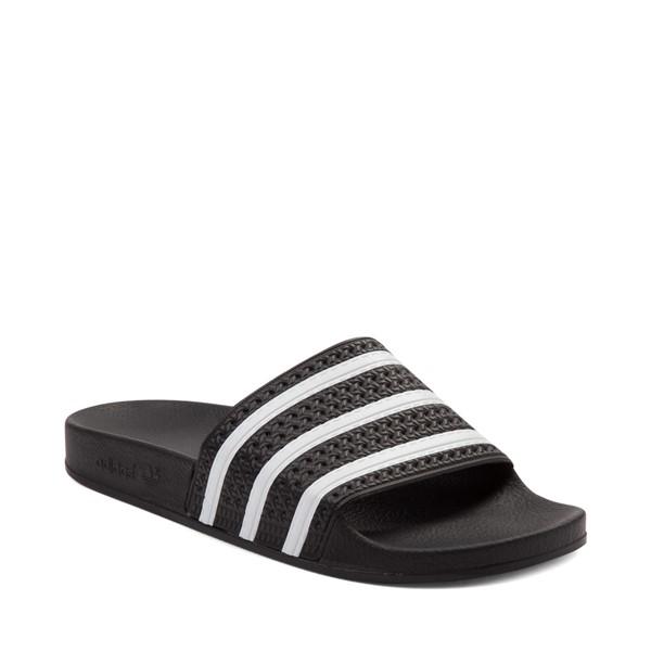 alternate view adidas Adilette Athletic Sandal - Black / WhiteALT5