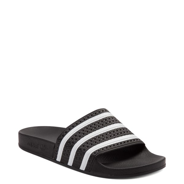 alternate image alternate view adidas Adilette Athletic Sandal - Black / WhiteALT1