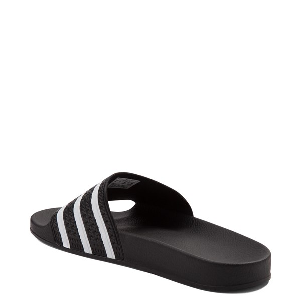 alternate image alternate view adidas Adilette Athletic Sandal - Black / WhiteALT2