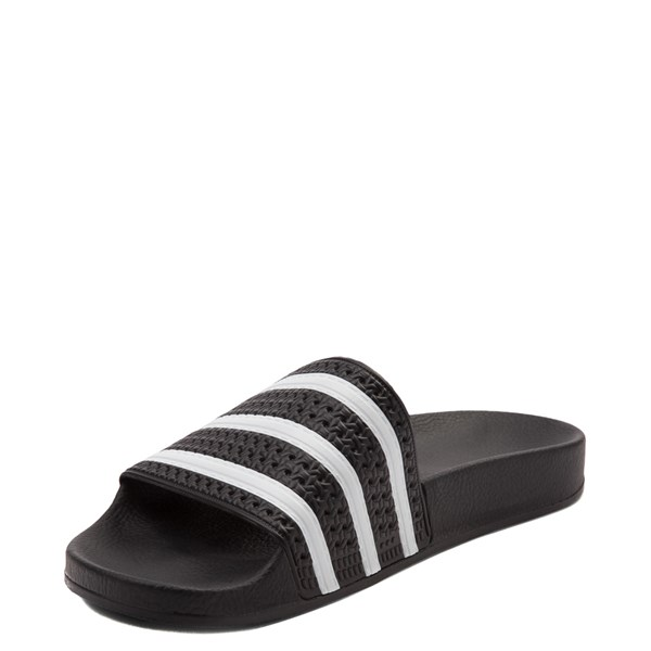 alternate image alternate view adidas Adilette Athletic Sandal - Black / WhiteALT3