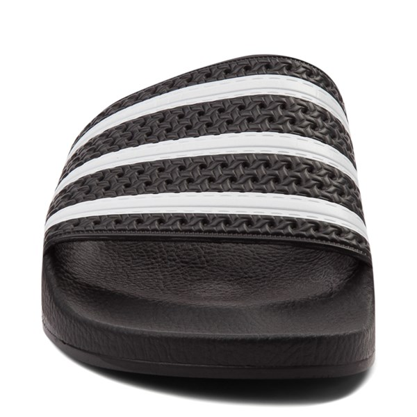 alternate image alternate view adidas Adilette Athletic Sandal - Black / WhiteALT4