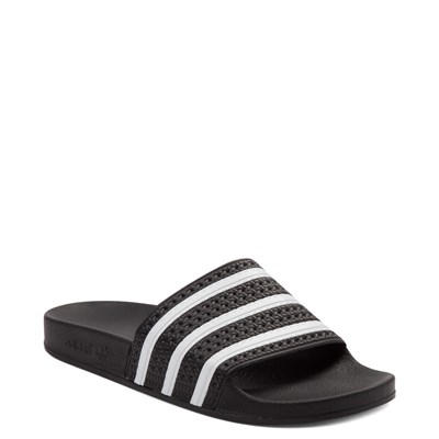 Alternate view of adidas Adilette Athletic Sandal - Black / White