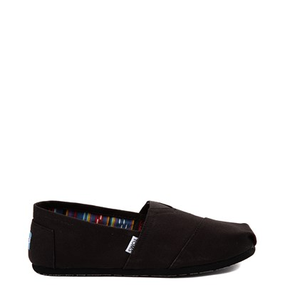 Main view of Mens TOMS Classic Slip On Casual Shoe - Black