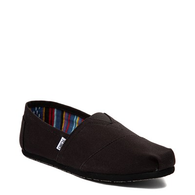 Alternate view of Mens TOMS Classic Slip On Casual Shoe - Black