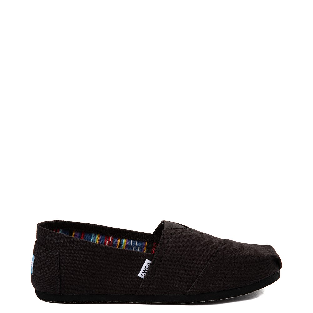 Mens TOMS Classic Slip On Casual Shoe - Black