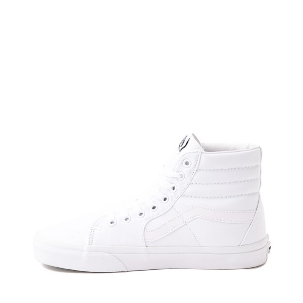alternate image alternate view Vans Sk8 Hi Skate Shoe - WhiteALT1
