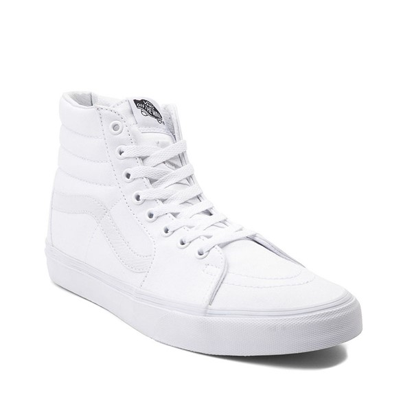 alternate image alternate view Vans Sk8 Hi Skate Shoe - WhiteALT5