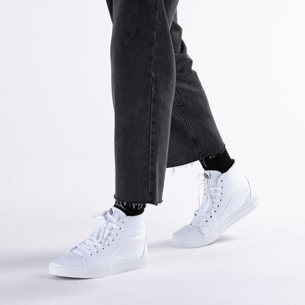 alternate image alternate view Vans Sk8 Hi Skate Shoe - WhiteB-LIFESTYLE1