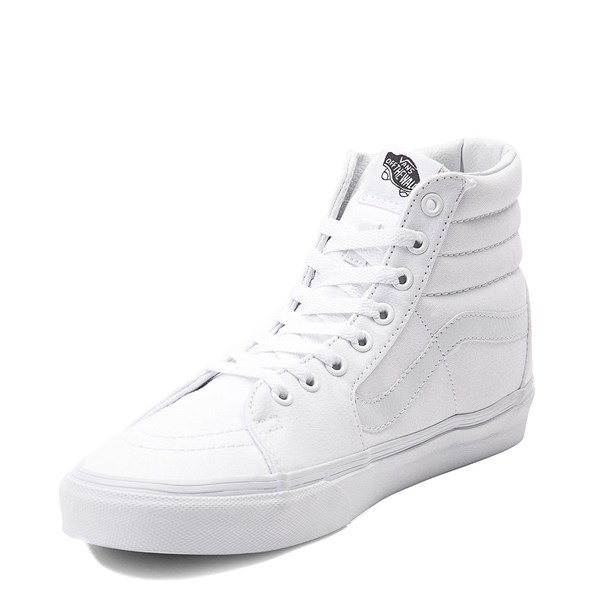 alternate image alternate view Vans Sk8 Hi Skate Shoe - WhiteALT3