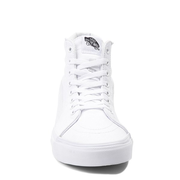 alternate image alternate view Vans Sk8 Hi Skate Shoe - WhiteALT4
