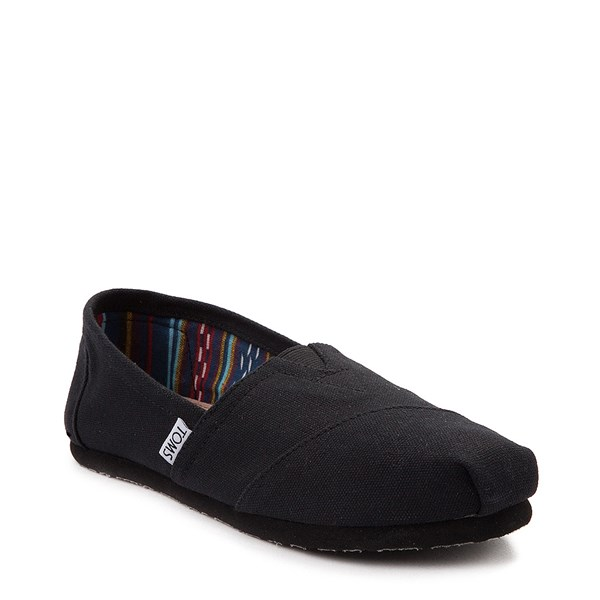 alternate image alternate view Womens TOMS Classic Slip On Casual Shoe - BlackALT1