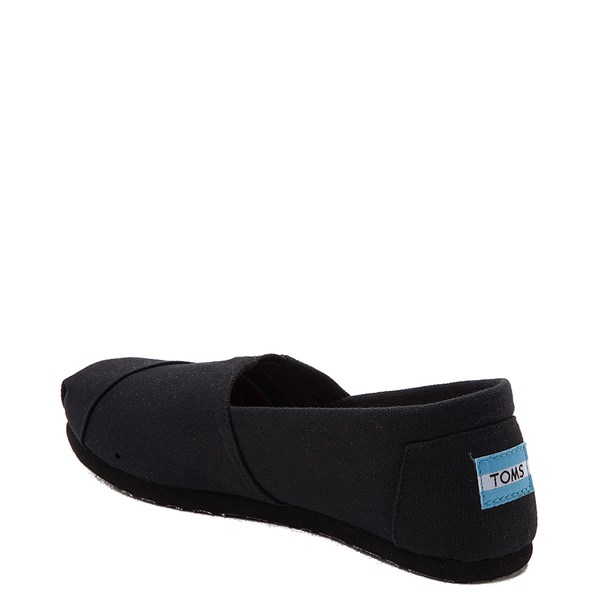 alternate image alternate view Womens TOMS Classic Slip On Casual Shoe - BlackALT2