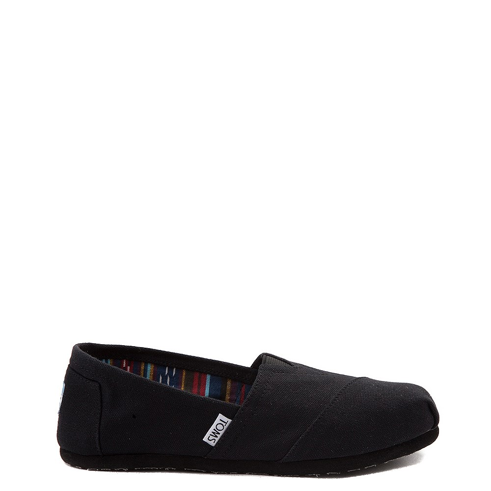 Womens TOMS Classic Slip On Casual Shoe - Black