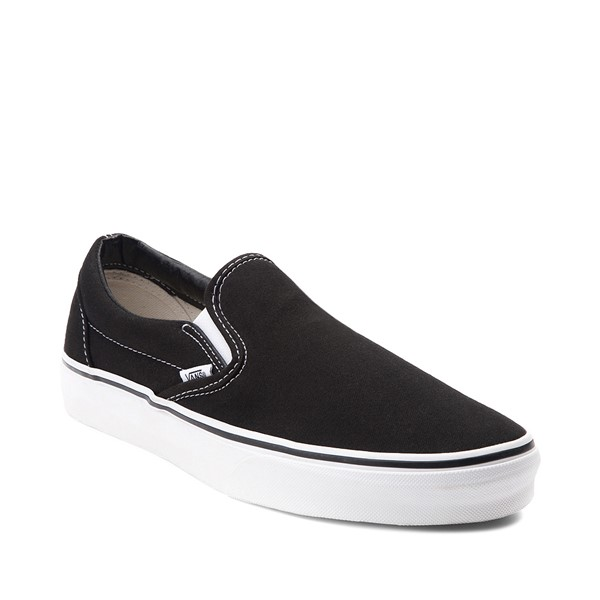 alternate image alternate view Vans Slip On Skate Shoe - Black / WhiteALT5