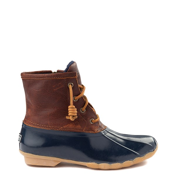 Womens Sperry Top-Sider Saltwater Boot - Navy / Brown