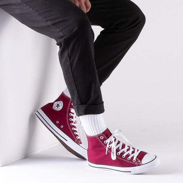 alternate image alternate view Converse Chuck Taylor All Star Hi Sneaker - MaroonB-LIFESTYLE1