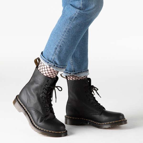 alternate image alternate view Womens Dr. Martens Pascal 8-Eye Boot - BlackB-LIFESTYLE1