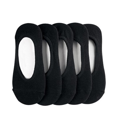 Main view of Womens No Show Sock 5 Pack - Black