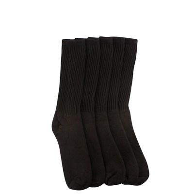 Main view of Womens Crew Socks 5 Pack - Black