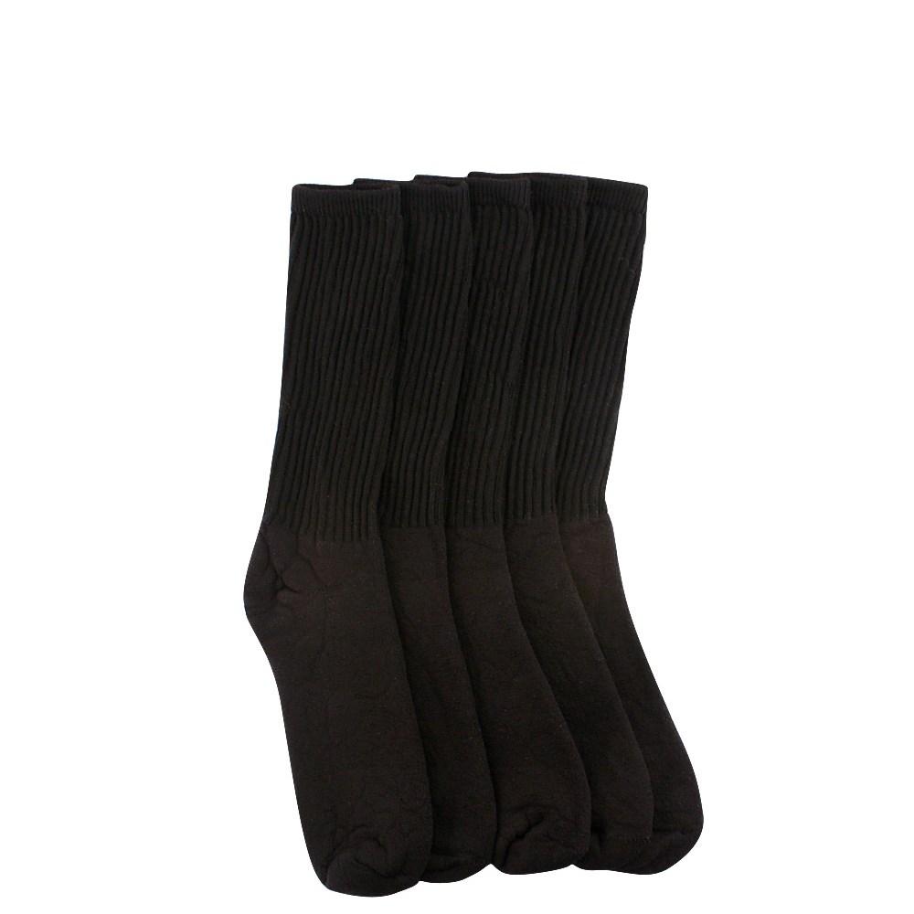 Womens Crew Socks 5 Pack - Black