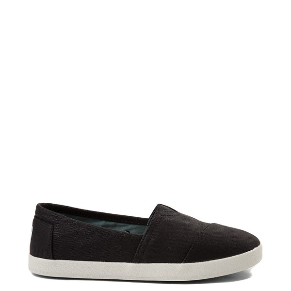 Womens TOMS Avalon Slip On Casual Shoe - Black