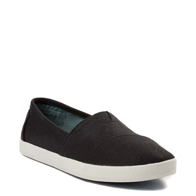 Alternate view of Womens TOMS Avalon Slip On Casual Shoe - Black