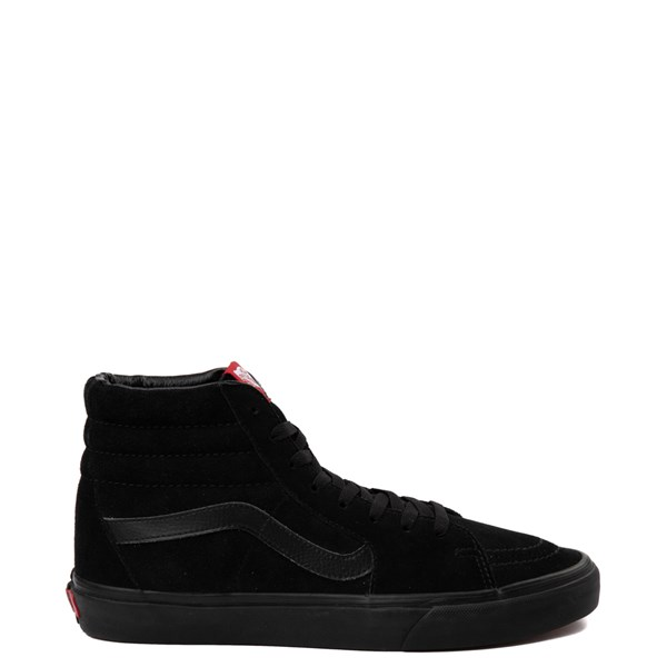Main view of Vans Sk8 Hi Skate Shoe - Black Monochrome