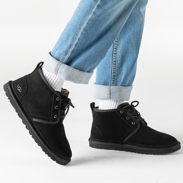 alternate image alternate view Mens UGG® Neumel Casual Shoe - BlackB-LIFESTYLE1
