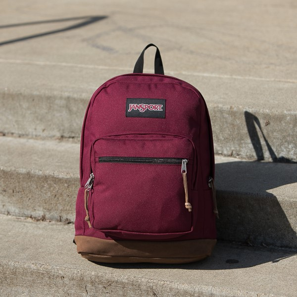 alternate image alternate view JanSport Right Pack Backpack - Russet RedALT1BB