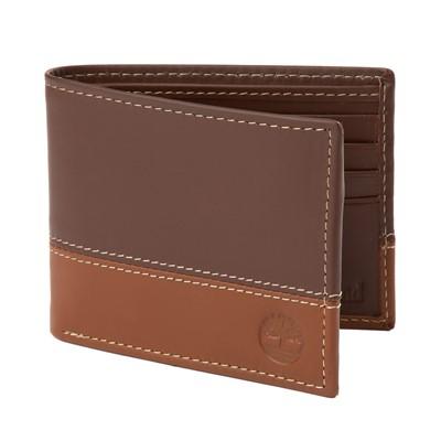 Main view of Timberland 2 Tone Bi-Fold Wallet - Brown / Tan