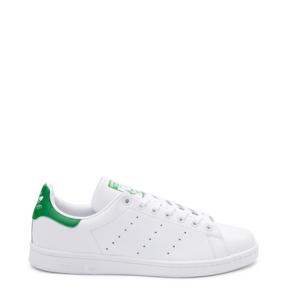 Mens adidas Stan Smith Athletic Shoe - White / Green