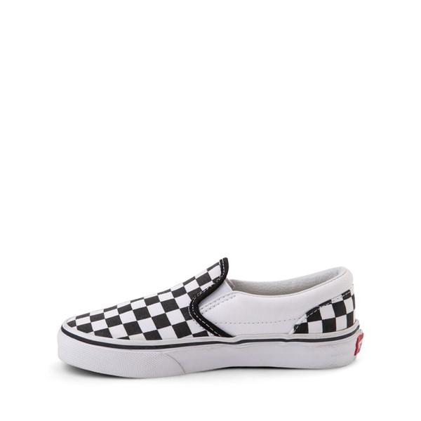 alternate image alternate view Vans Slip On Checkerboard Skate Shoe - Little Kid / Big Kid - Black / WhiteALT1