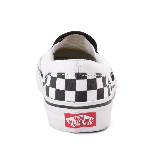 alternate image alternate view Vans Slip On Checkerboard Skate Shoe - Little Kid / Big Kid - Black / WhiteALT4
