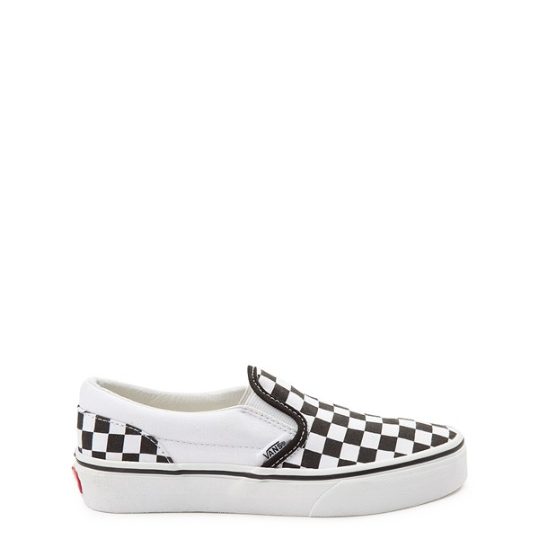 Main view of Vans Slip On Checkerboard Skate Shoe - Little Kid / Big Kid - Black / White
