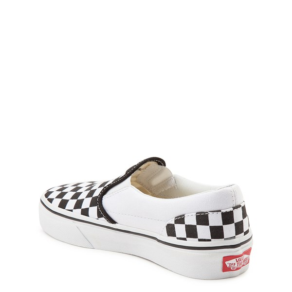 alternate image alternate view Vans Slip On Checkerboard Skate Shoe - Little Kid / Big Kid - Black / WhiteALT2