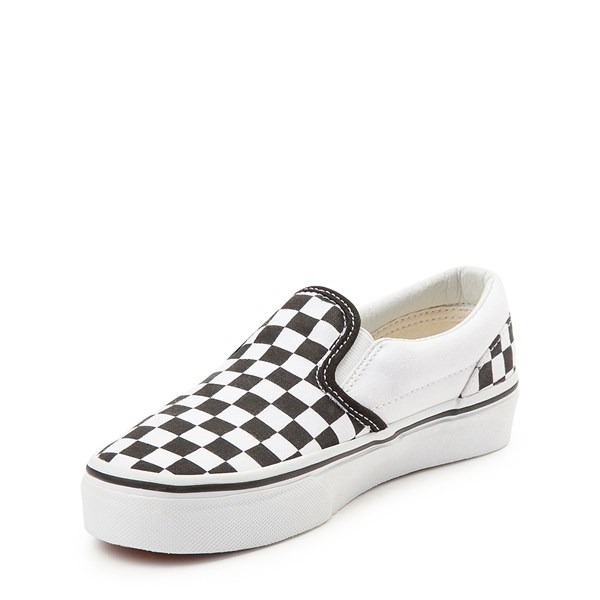 alternate image alternate view Vans Slip On Checkerboard Skate Shoe - Little Kid / Big Kid - Black / WhiteALT3