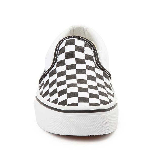 alternate image alternate view Vans Slip On Checkerboard Skate Shoe - Little Kid / Big Kid - Black / WhiteALT4