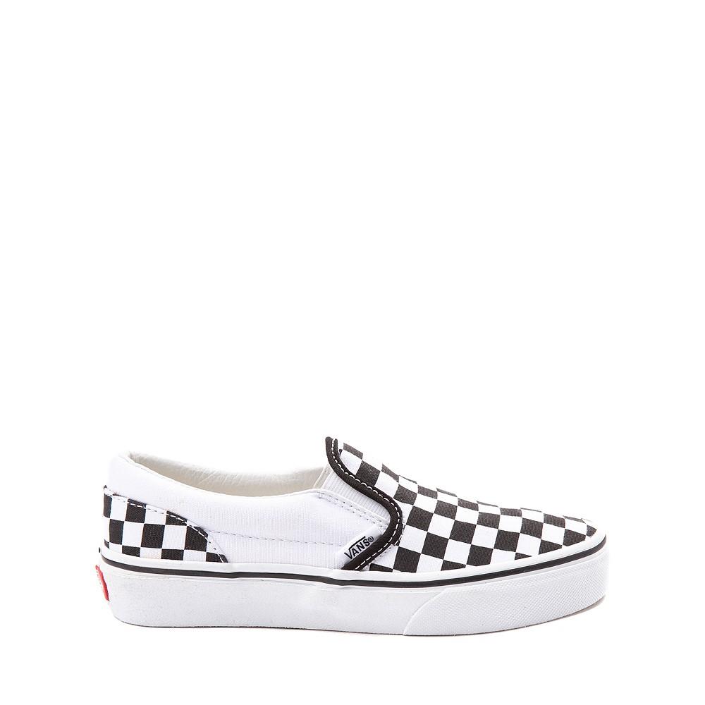 Vans Slip On Checkerboard Skate Shoe - Little Kid / Big Kid - Black / White