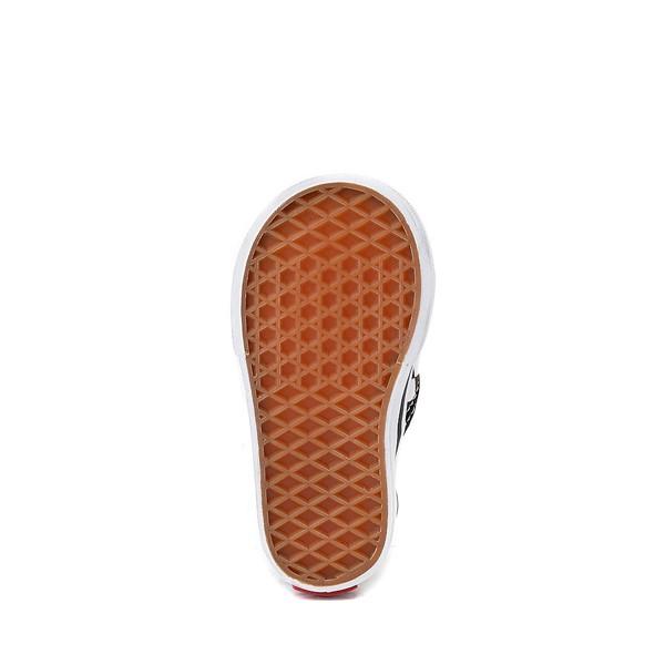 alternate view Vans Slip On Chex Skate Shoe - Baby / Toddler - Black / WhiteALT3