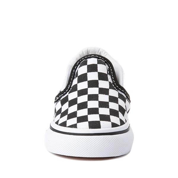 alternate view Vans Slip On Chex Skate Shoe - Baby / Toddler - Black / WhiteALT4