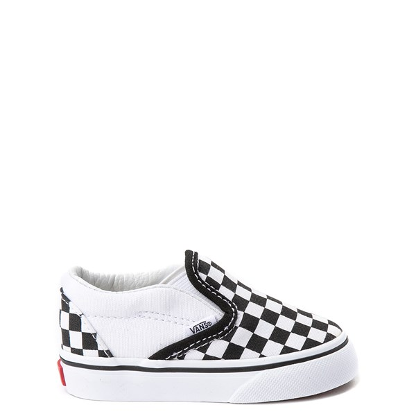 Vans Slip On Chex Skate Shoe - Baby / Toddler - Black / White