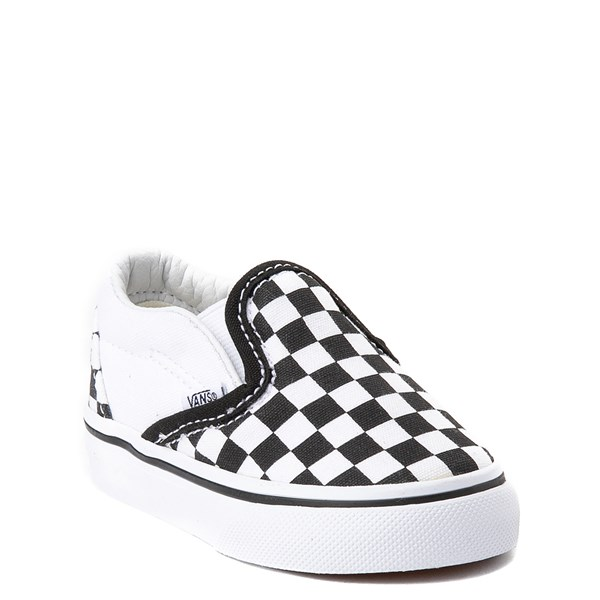 alternate image alternate view Vans Slip On Chex Skate Shoe - Baby / ToddlerALT1