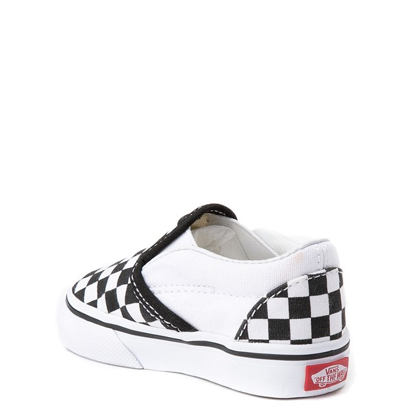 alternate image alternate view Vans Slip On Chex Skate Shoe - Baby / ToddlerALT2
