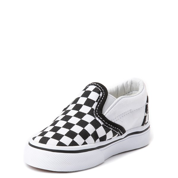 alternate image alternate view Vans Slip On Chex Skate Shoe - Baby / ToddlerALT3
