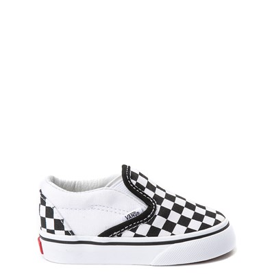Main view of Vans Slip On Chex Skate Shoe - Baby / Toddler