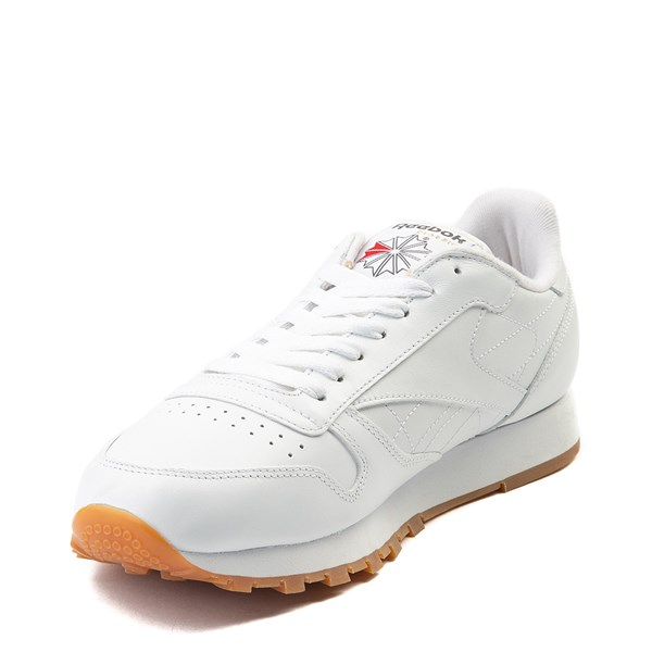 alternate image alternate view Mens Reebok Classic Athletic Shoe - White / GumALT3