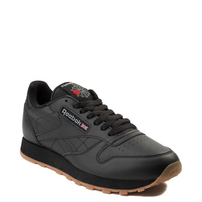 Alternate view of Mens Reebok Classic Athletic Shoe - Black / Gum