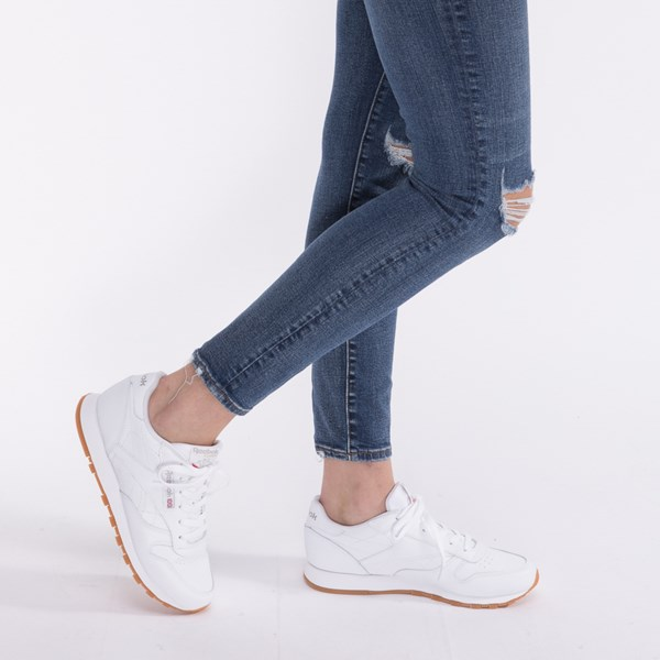 alternate image alternate view Womens Reebok Classic Athletic Shoe - White / GumALT7