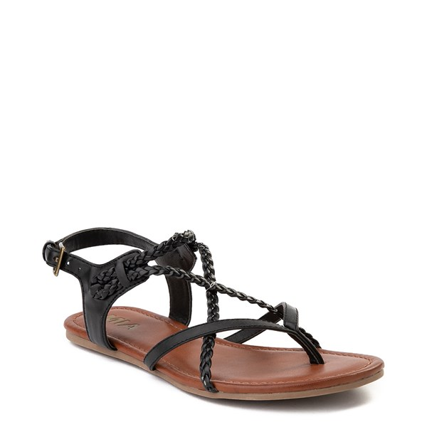 alternate image alternate view Womens MIA Adrianna Sandal - BlackALT1