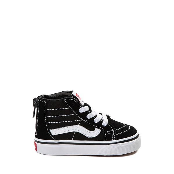 Main view of Vans Sk8 Hi Skate Shoe - Baby / Toddler - Black / White